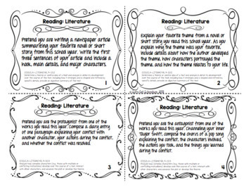 ELA End of the Year Task Cards Common Core Aligned