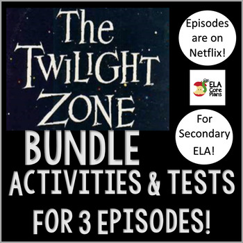 ELA Halloween Activities Using Episodes of The Twilight Zone ~ Bundle!