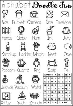 ELA English Alphabet Letter Trace & Color!