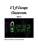 ELA Escape Room Challenge #2