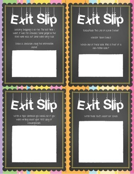 ELA Exit Slips