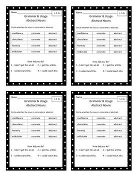 ELA Grammar & Usage Exit Slips - Grade 3