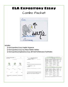 ELA Expository Essay: Writing COMBO Pack