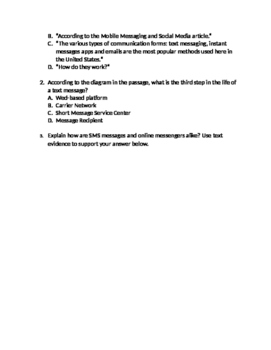 ELA FSA Style Reading Passage & Questions on Technology