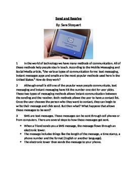 ELA FSA Style Reading Passage & Questions on Technology