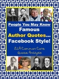 ELA Facebook Famous Author Quotes & Analysis