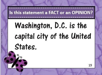 Fact vs. Opinion Task Cards
