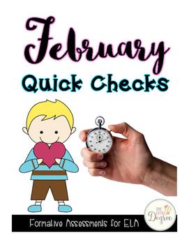 ELA February Quick Checks: No Prep Printables for Progress Monitoring!