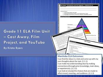 ELA Film Unit - Student Booklet - Cast Away, Film Project, and Youtube