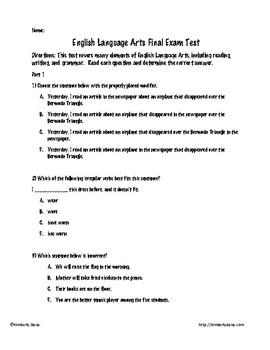 ELA Final Exam Test