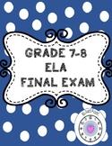 ELA Final Exam
