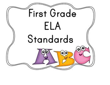 ELA First Grade Standards