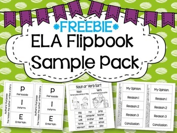 ELA Flipbook Sample Freebie