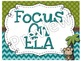 ELA Focus Wall CCSS and Essential Questions for 3rd Grade Monkey Theme