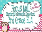 ELA Focus Wall Common Core Standards and Essential Questio