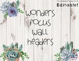 ELA Focus Wall Headers - Succulents
