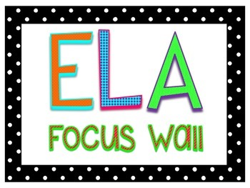 ELA Focus Wall- Polka Dots