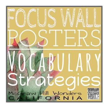 ELA Focus Wall Posters for Vocabulary Strategies: McGraw Hill Wonders