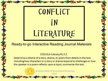 ELA Foldable - Conflicts in Literature