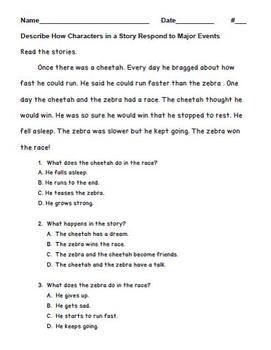 ELA Formative Assessment Standard 2.RL.KID.3
