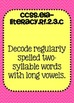 Common Core ELA Standards Posters 2nd grade