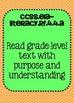 Common Core ELA Standards Posters 4th grade