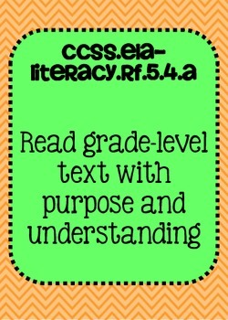 Common Core ELA Posters 5th grade