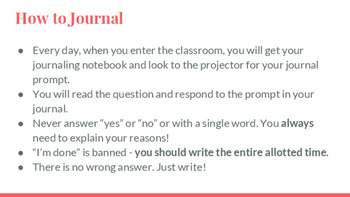 FREEBIE ELA - 10 Journal Prompts, Bell Work, Warm ups WITH PICTURES