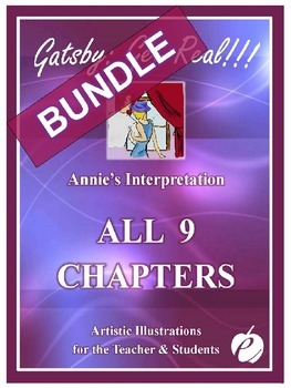 """ELA: GATSBY BUNDLE Chapters 1-9 – """"ALL Illustrations by Annie"""""""