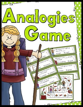 Analogies Game - 40 Analogy Task Cards!