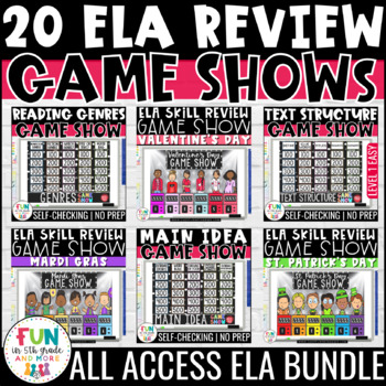 ELA Game Show ALL ACCESS Bundle