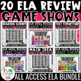 ELA Game Show ALL ACCESS Bundle | ELA Test Prep Review Activities