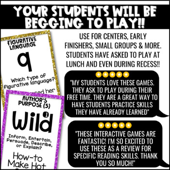 Literacy Games Bundle 2: U-Know  ELA Games