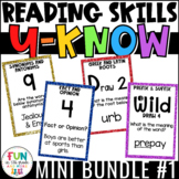 Reading Games Mini U-Know Bundle 1   Reading Test Prep Review Games