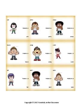 ELA Games: Four in a Row Antonyms Grades 3-5