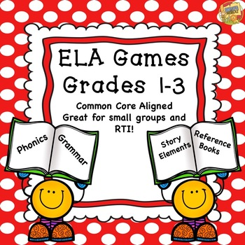 Reading Games - Great for RTI - Grades 1-3 - Test Prep