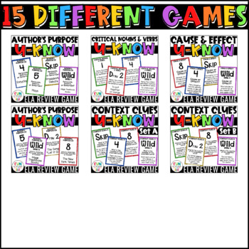 Literacy Games MEGA Bundle: U-Know  ELA Games