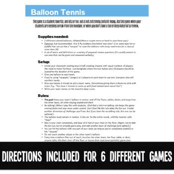 ELA Games Pack Review Grammar & Literature CCSS Aligned