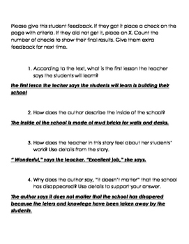 ELA Grade 3 Module 1 Engage NY Answering Text Questions Survival Guide