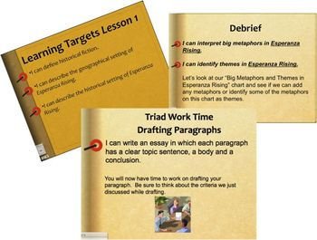 New York ELA Grade 5 Module 1, Unit 2, Esperanza Rising,  Lessons 1 - 18