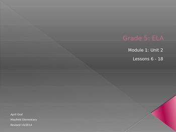 ELA Grade 5, Module 1: Unit 2 Lessons 6 - 18
