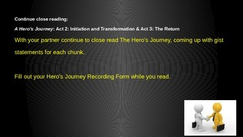 ELA Grade 6 Module 1 Unit 1 Lesson 8 The Hero's Journey The Gist