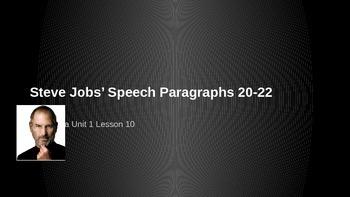 ELA Grade 6 Module 2a Unit 1 Ls 10 Steve Jobs Paragraph 20-22 Get the Gist