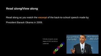 ELA Grade 6 Module 2a Unit 1 Ls 12 End of Unit Assessment Obama Speech