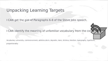 ELA Grade 6 Module 2a Unit 1 Ls 6 Get Gist Steve Jobs Commencement Parag 6-8
