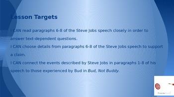 ELA Grade 6 Module 2a Unit 1 Ls 7 Text-Dep Quest/Supporting a Claim Jobs Speech