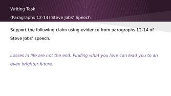 ELA Grade 6 Module 2a Unit 1 Ls 9 Digging Deeper into Steve Jobs Speech P 12-14