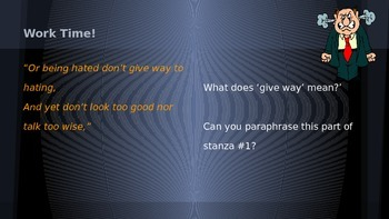 """ELA Grade 6 Module 2a Unit 2 Lesson 3 Stanza 1 """"IF"""" Rules to Live By"""