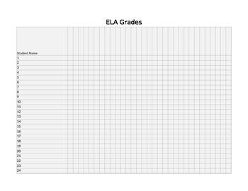 ELA Grade Log