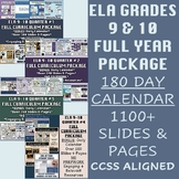 ELA Grades 9-10 FULL YEAR Curriculum: 180+ Days of Rigorou